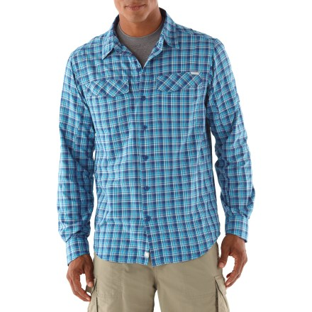 Camp and Hike The Columbia Sportswear Silver Ridge(TM) Plaid long-sleeve shirt delivers the coverage and comfort you need for warm-weather travels. - $29.83