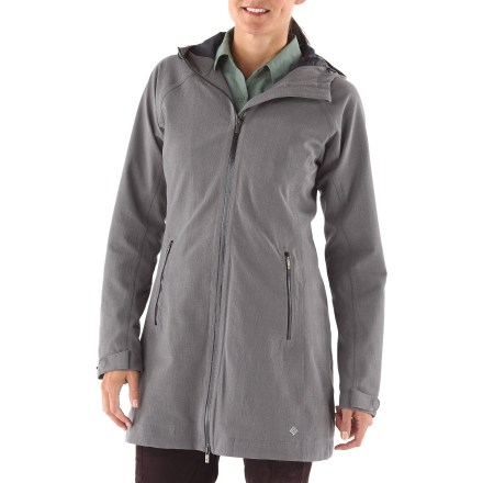 The Columbia Dusk2Dawn coat has you covered for adventures ranging from daytime excursions to nights on the town, with all-day weatherproof protection. Omni-Tech(TM) waterproof, breathable coating fends off snow and rain showers; shell fabric is made from a synthetic blend, with a touch of spandex for stretch. Polyester lining with Omni-Heat(TM) thermal reflective technology to retain 20% more warmth than the average lining. Fully taped seams create the ultimate seal against wind and snow. Attached storm hood and cuffs adjust for a personalized fit. Full-length, 2-way front zipper has an interior windflap and chin guard. Columbia Dusk2Dawn coat features an interior media pocket to stash your gadgets and 2 zip handwarmer pockets. - $123.83