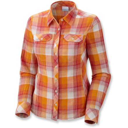 Camp and Hike The Columbia Camp Henry plaid shirt is so soft, you'll be tempted to sleep in it! - $10.83