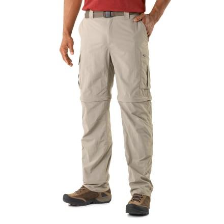 Camp and Hike The Columbia Silver Ridge(TM) convertible pants, with 32 in. inseam, give you convenient 2-in-1 function that saves weight and space, making them perfect for backpacking and extended travel. - $29.83