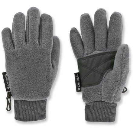 Ski As their name suggests, the Columbia Falltrainer youths' gloves are ideal for any autumn adventure, whether it's raking leaves in the yard or taking an evening stroll. Soft, non-pilling polyester fleece retains warmth, even when damp. Polyurethane palms offer reliable grip. Knit cuffs secure the fit. Closeout. - $8.93