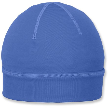 Ski The Columbia Hit the Trail beanie offers a great fit and exceptional warmth. Polyester/elastane blend fabric sheds like water and stretches for comfort. Omni-Heat(R) thermal reflectivity lining traps and circulates heat to keep head warm. Ponytail opening at back. Closeout. - $7.83