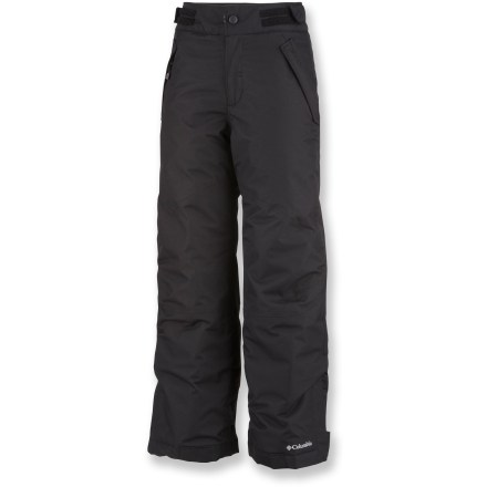 Ski The Columbia Star Lit Ridge pants are far superior to cold, soggy jeans. These pants provide a warm and waterproof barrier between girls and snow drifts. Omni-Tech(R) waterproof breathable shell is critically seam sealed to keep her dry during a full day of play. Omni-Heat(R) thermal reflective lining coupled with polyester insulation creates up to 20% more heat retention than ordinary liners. Internal, adjustable leg gaiters fit snugly over boots to keep snow from finding its way inside. Zippered front pockets and a sleek, ergonomic waistband. The Columbia Star Lit Ridge pants feature reinforced cuff guards. - $65.93