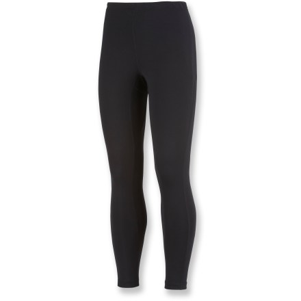Ski The Columbia Youth Baselayer midweight tights offer reliable warmth and comfort against the skin while kids are skiing or playing in the snow. Omni-Heat(TM) fabric is made of polyester blended with reflective-print elastane; Omni-Wick(TM) performance helps keep skin dry. - $27.93