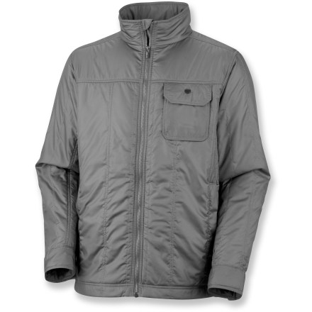 The Prospect Station jacket from Columbia puts the shine on downtown style. Head uptown, dip into a coffee shop or a bookstore, and the Prospect fits right in. Durable shell fabric is lightweight and wind resistant; Durable Water Repellent finish causes water to bead up and roll. Omni-Heat(R) thermal reflective lining helps keep you warm by reflecting and retaining the warmth your body generates. Features a full-length front zipper, chin guard and snap-adjustable cuffs. Columbia Prospect Station jacket has zip hand pockets and a flap-close chest pocket; internal media-friendly pocket. - $104.93