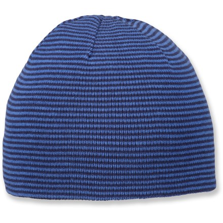 Ski In a trove of chilly-weather staples, this Columbia Urbanization beanie is one treasure you'll always want to keep close at hand. Soft acrylic provides the warmth of wool without the itch, and it dries quickly. Closeout. - $4.93