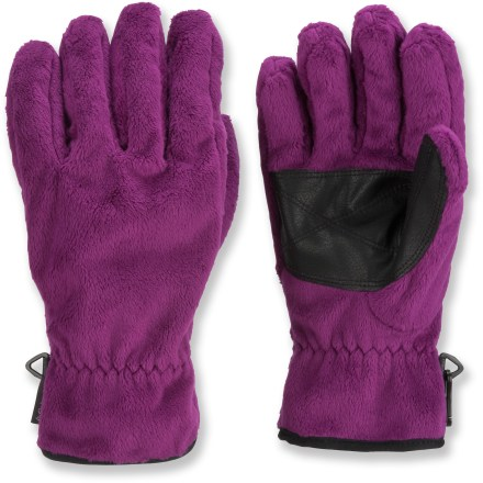 Ski The Columbia Pearl Plush(TM) fleece gloves are exceptionally soft and warm. They're the perfect go-to gloves when the temperature drops. Buttery soft fleece provides chill-busting warmth for great comfort. Polyurethane patches on the palms offer good grip. The Columbia Pearl Plush fleece gloves have elastic at the wrists to keep cold air out. Closeout. - $10.73