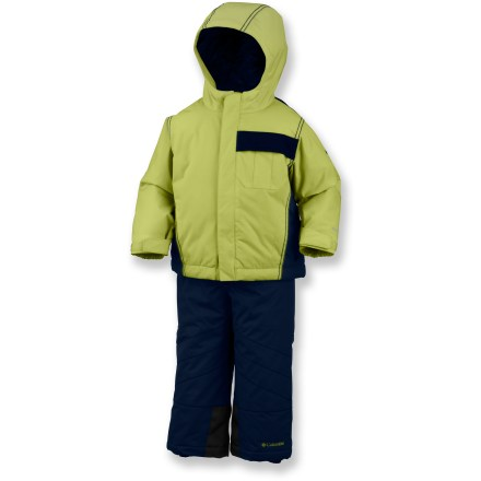 Ski For first ventures into the snow, the Columbia Snow Go-Er toddlers' snowsuit set will keep your little fellow toddling forward. - $47.73