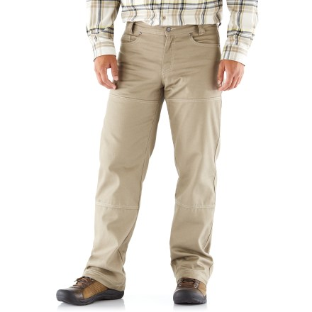 Camp and Hike Don't let cool weather keep you from exploring the outdoors. The Columbia Noble Falls Omni-Heat(R) Lined utility pants feature a heat-trapping lining to keep you warm on your adventures. Midweight cotton/polyester blend fabric has an Omni-Heat(R) thermal reflective lining to boost heat retention on cold days. Standard 5-pocket design gives you ample space to stow essentials. Columbia Noble Falls Omni-Heat(R) Lined utility pants have an active fit with straight legs. - $19.83