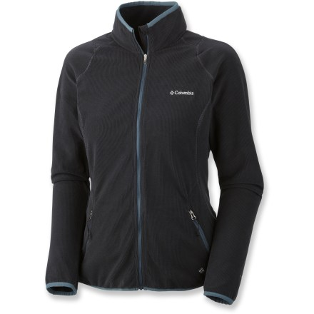 Camp and Hike The Columbia Summit Rush(TM) Full-Zip fleece jacket is the missing link between you and round-the-clock comfort. Midweight fleece insulates and keeps you warm on its own or under an outer layer; 4-way stretch ensures excellent fit and comfort. Added Omni-Wick(TM) treatment wicks moisture away from the skin, keeping you dry and comfortable even when working hard. The Columbia Summit Rush Full-Zip jacket features 2 zippered hand pockets for securing small essentials. - $48.93