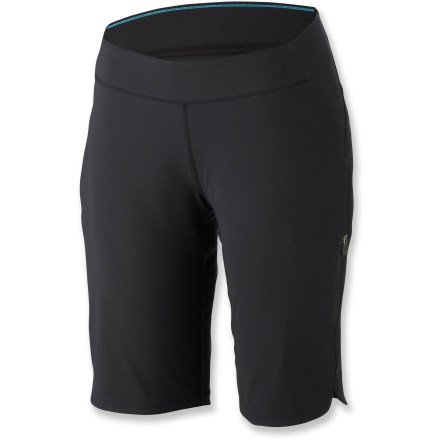 Camp and Hike Perfect for an afternoon on the trail or running errands, the Columbia Back Beauty(TM) Long Sport shorts keep you safe from sun and set for one adventure after another. Omni-Shield(TM) fabric repels water and stains, helping you stay comfortable in light rain or when an unexpected encounter with dirt gets the better of you. Omni-Shade(TM) treatment provides UPF 50+ sun protection that continuously guards against harmful ultraviolet rays so your skin stays protected as long as your day lasts. Mid-rise waistband and added stretch help make the Back Beauty shorts as comfortable as your favorite old gym shorts. The Columbia Back Beauty Long Sport shorts feature 1 zippered side pocket for securing small essentials. - $32.93