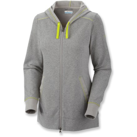 Once you pull on the Columbia Heather Honey(TM) III hoodie, be prepared to explain why it never leaves your sight. Soft fabric and cool style makes this hoodie simply irresistable. Omni-Wick(TM) fabric moves moisture away from the skin so you stay dry and comfortable even when working hard. The Columbia Heather Honey III hoodie features 2 front hand pockets for easy storage; 2-way front zipper allows full range of motion and venting. - $24.83