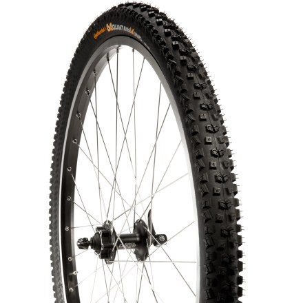 MTB The Continental Mountain King ProTection 29er foldable tire offers a broad, aggressive tread and tubeless-ready performance for solid handling and traction. - $69.95