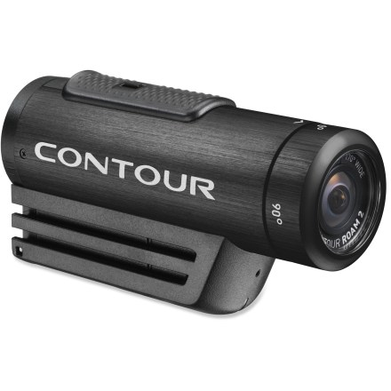 Ski Step it up a level with the Contour Roam2 wearable camcorder. With instant-on simplicity, this cam makes it easy capture memorable moments from your adventures. Instant-on record switch powers the camera on and immediately starts recording so you won't miss the shot you want. Capture all the background scenery and action that happens off to the side with the 170deg super wide-angle lens. Camera technology automatically adjusts the exposure and white balance to give you crisp, beautiful video. Choose between shooting high-definition video at 1080p or 960p at 30 frames per second or 720p at 60 frames per second; you can also take 5-megapixel stills at set intervals. Low-profile camera weighs only 5.1 oz. and mounts easily to a helmet or other surface with the included profile mount and rotating flat surface mount. ROAM2 provides IPX7 waterproof protection so there's no need to worry about the camera if you're caught in the rain; waterproof down to 1m. For full-submersion sports, such as surfing or scuba diving, you'll want to pick up a waterproof case (not included) for protection down to 60m. Lens ring rotates 270deg to so you can mount the camera on its side or upside down and still get the shot you want. Use the laser line beam to make sure the rotating lens ring is aligned with the horizon so your footage comes out looking great. Accepts microSD cards up to 32GB (sold separately); record up to 8 hrs. of footage when shooting in full 1080p mode. Built-in, multidirectional microphone captures the audio that accompanies your adventures. Integrated rechargeable lithium ion battery allows up to 3.5 hrs. of recording time at 720p. Connect the camera to a computer via a USB port to recharge the battery; battery will reach 80% charge in about 1 hr. and a full charge in 3 - 4 hrs. Press the status button to check remaining battery power and available memory. - $149.93