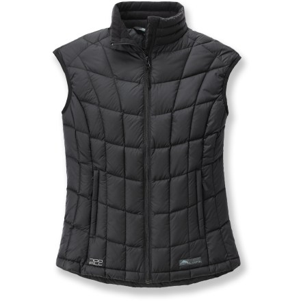 The Cordillera Athena down vest insulates your core without adding bulkiness to your look. - $78.73
