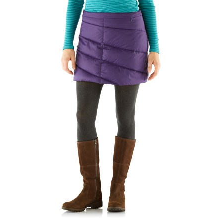 Ski The Cordillera Snow Flurry Down skirt is ready for adventures in the cold. - $74.73
