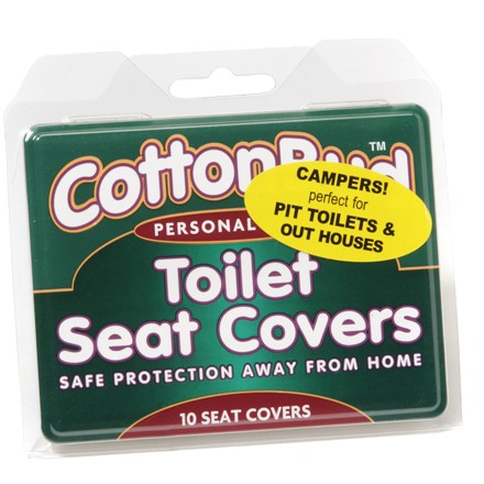 Camp and Hike These convenient , packable toilet seat covers offer easy and safe protection when away from home. - $1.75