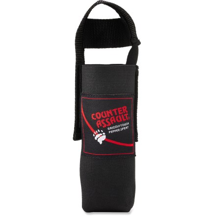 Camp and Hike This durable nylon holster keeps your canister of Counter Assault Bear Deterrent spray (sold separately) secure and within easy reach while you travel in bear country. - $12.95