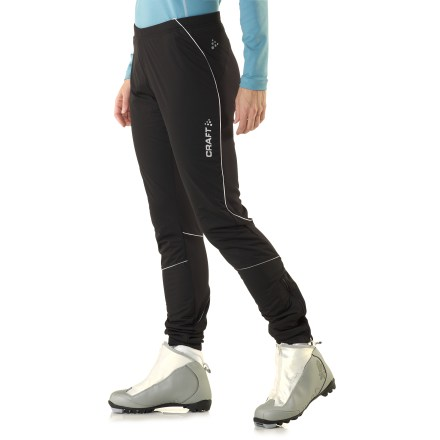 Ski These women's Craft XC Storm tights are designed to block wind without hindering movement during fast-paced winter pursuits such as cross-country skiing and running. - $86.93