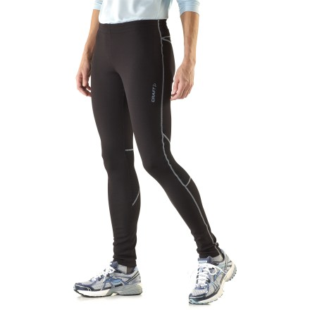 Ski Keep your legs cozy with these women's Craft Flex tights, made of a stretchy fleece to let you move freely as you adventure about in cool weather. Polyester fleece fabric offers great mechanical stretch, light insulation and comfortable moisture-wicking performance. Drawcord waist ensures a comfortable, snug fit. The Craft Flex tights feature an ergonomic cut for nonrestrictive movement when you're on the go. - $48.93
