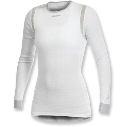 Extreme The Craft of Sweden Pro Zero Extreme Concept Piece top offers women a comfortable base layer when running, hiking or any other outdoor activity. Polyester fabric is moisture wicking and quick drying; mesh panels increase ventilation. Flatlock seams maximize motion and minimize abrasion. Closeout. - $28.83