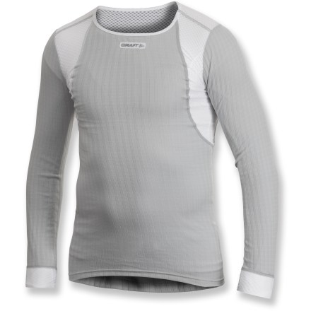 Fitness The Craft of Sweden Pro Zero Extreme Concept Piece top is the perfect base layer for hard-charging pursuits. Polyester fabric is moisture wicking and quick drying; mesh panels increase ventilation. Flatlock seams maximize motion and minimize abrasion. Closeout. - $28.83