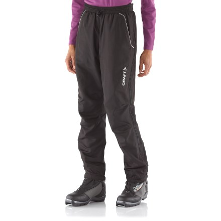 Ski With a loose fit and full-zip design, the women's Craft AXC Full-Zip Touring pants offer comfort and freedom of movement for active winter pursuits. - $44.93