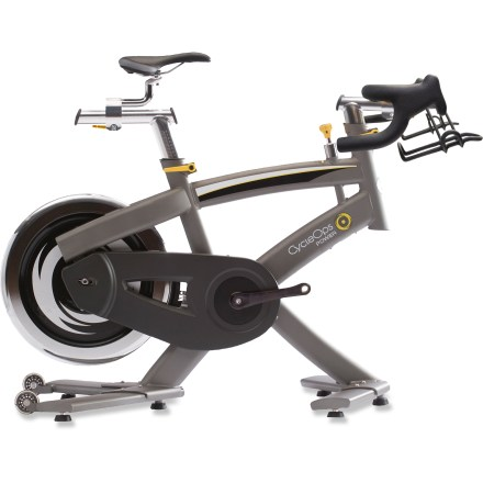 Fitness The 100 Pro is the most affordable indoor cycle offered by CycleOps. It's built on the Pro Series frame, features freewheel gearing and allows quick geometry adjustments that create the perfect fit. - $935.93