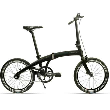 Fitness Dahon Mu Uno folding bike boasts a simple design, featuring a single-speed drive that minimizes maintenance needs and maximizes convenience. The Mu Uno folds in just 10 seconds; folded dimensions are 30.4 x 25.7 x 10.1 in. Magnetix(TM) patented clip system uses magnets to latch bike neatly together when folded for lifting and carrying convenience. Sturdy aluminum frame with shaped Sonus tubing offers plenty of strength with low weight. Premium V-Clamp quick-release frame hinge is reliable and does not compromise frame strength. Folding Radius V stem features a patented locking mechanism that's hidden inside handlepost body for a clean profile. Single-speed drivetrain is the ultimate in low-maintenance and urban utility, taking away the fuss of cable adjustment and shifting-just pedal and go. Upping the ease factor is the rear coaster brake that engages at the hub when one backpedals; dual-pivot caliper brake has your braking needs covered up front. Schwalbe Marathon Racer tires have a fast, low-profile tread design; double-layer puncture protection deters flats. Dahon PostPump+ seatpost cleverly converts into an integrated pump, so you never have to worry about leaving the pump at home. Accommodates riders up to 6 ft. 4 in. and 230 lbs. Specs on the Dahon Mu Uno are subject to change. - $699.00