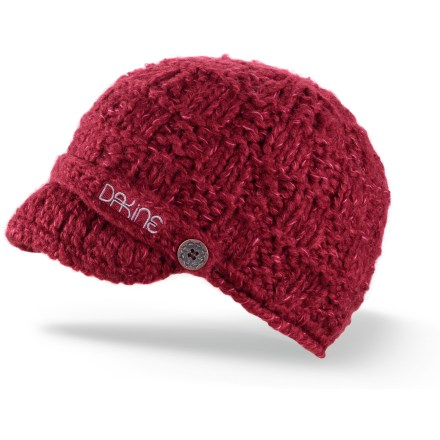 Snowboard The DAKINE Audrey visor beanie will warm your head, shade your eyes and put a smile on your face. - $14.83
