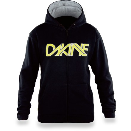 Surf This casual, cotton DAKINE Linked hoodie is sure to be a park, pipe and party favorite. Cotton is naturally soft, breathable and comfortable. Cotton jersey-lined hood cinches with drawcord. Front kangaroo-style pockets offer a cozy spot for your hands; full-zip front. Closeout. - $26.83
