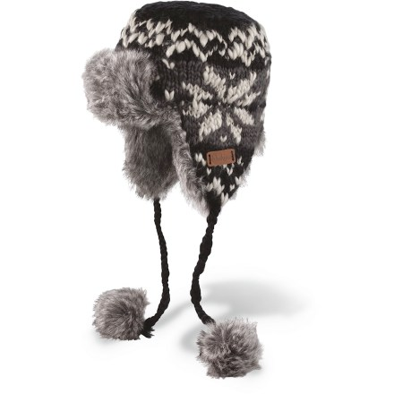 Entertainment The DAKINE Kira hat brings creative style to your cold-weather outings. Hand-knit acrylic exterior has a soft polyester fleece and faux-fur lining for great warmth. - $16.83