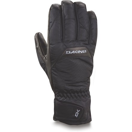 Ski There's a foot of fresh snow and the sun is shining. Sounds like a perfect day to hit the slopes with the warm and functional DAKINE Nova Short gloves. Nylon/polyester shells have waterproof, breathable inserts that keep your hands dry and comfortable; Durable Water Repellent treatment sheds moisture. High-loft synthetic insulation keeps your hands toasty while you take on winter weather. Leather palms ensure you have a good grip of ski poles; DWR treatment helps prevent the leather from soaking up water. DAKINE Nova Short gloves have a polyester tricot lining that adds warmth and wicks moisture off your hands. - $27.93