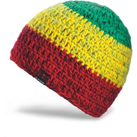 Entertainment Cold weather doesn't stand a chance against the warm and colorful DAKINE Logan hat. Hand-knit acrylic outer has a soft rib-knit jersey acrylic lining for great comfort. - $14.83
