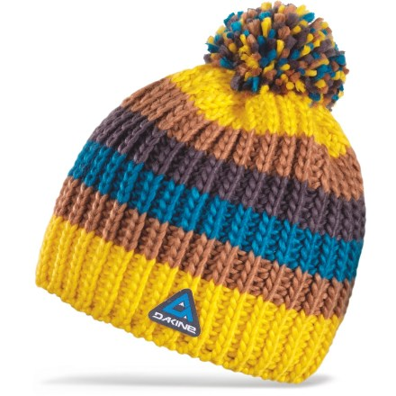 Entertainment The colorful DAKINE Gordon hat is handknit with soft acrylic yarn for great comfort on cold days. - $6.83