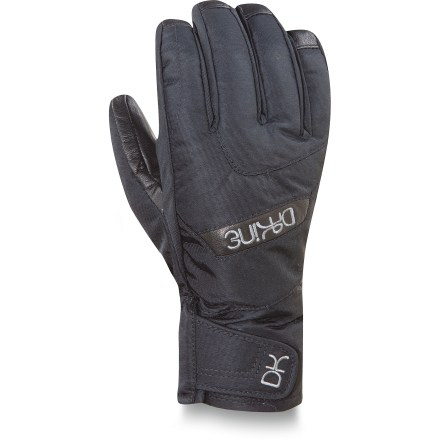 Ski There's a foot of fresh snow and the sun is shining. Sounds like a perfect day to hit the slopes with the warm and functional DAKINE Tahoe Short gloves. Nylon/polyester shells have waterproof, breathable inserts that keep your hands dry and comfortable; Durable Water Repellent treatment sheds moisture. High-loft synthetic insulation keeps your hands toasty while you take on winter weather. Internal pockets are sized to hold heat packets (sold separately) for extra warmth on especially chilly days. Leather palms ensure you have a good grip of ski poles; Durable Water Repellent treatment helps prevent the leather from soaking up water. DAKINE Tahoe Short gloves have a polyester tricot lining that adds warmth and wicks moisture off your hands. - $27.93