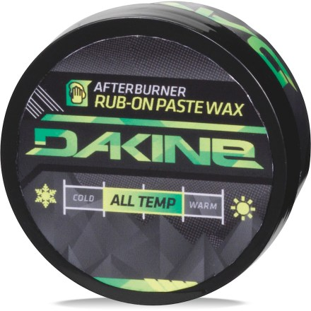 Snowboard The DAKINE Afterburner Rub-On Paste wax is a quick fix for sluggish boards. - $6.93