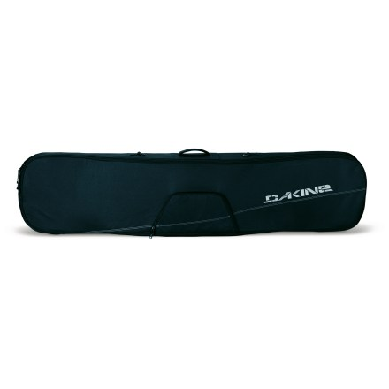 Ski The DAKINE Freestyle bag protects your board when transporting it to your next day of shredding. Bag holds multiple unmounted decks or a single board with bindings; padded, tarpaulin-lined bottom offers protection for your board. Full-length zipper provides easy access and secure closure. Exterior zippered accessory pocket stores your tools and wax. Haul handle and removable shoulder strap enable easy carrying. DAKINE Freestyle snowboard bag is constructed of 600-denier polyester for lightweight, durable protection. Closeout. - $37.93