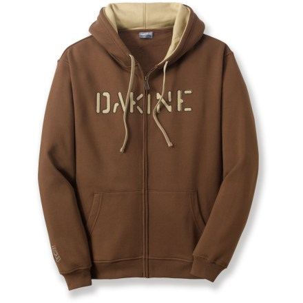 Surf The DAKINE Barrel zip hoodie takes you from the bottom of the hill to the rest of your evening adventures in your favorite mountain town. Cotton and polyester create the perfect balance of natural comfort, warmth and easy care. Cotton jersey-lined hood cinches with drawcord. Closeout. - $29.73