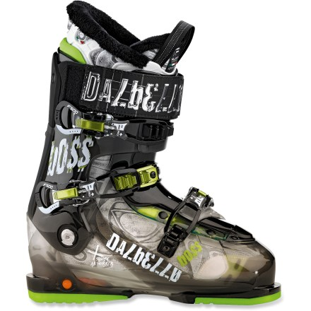 Ski The Dalbello Boss ski boots have the shock-absorbent features you need to play in the terrain park and improvise tricks all over he mountain. - $199.83
