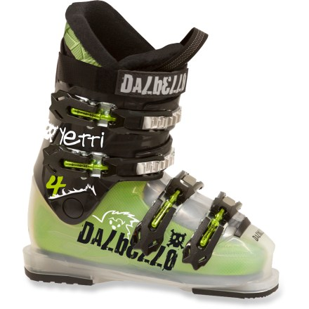 Ski Give your young skier a pair of boots that shred like the big boys: the Dalbello Yetti 4 ski boots. - $89.83