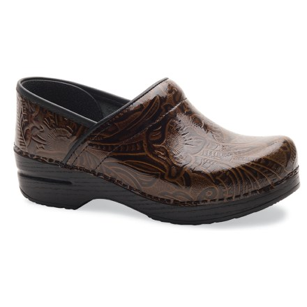 With ornate embossed leather construction, the Dansko Professional Tooled clogs bring high style and all-day comfort to your everyday dealings. - $39.83