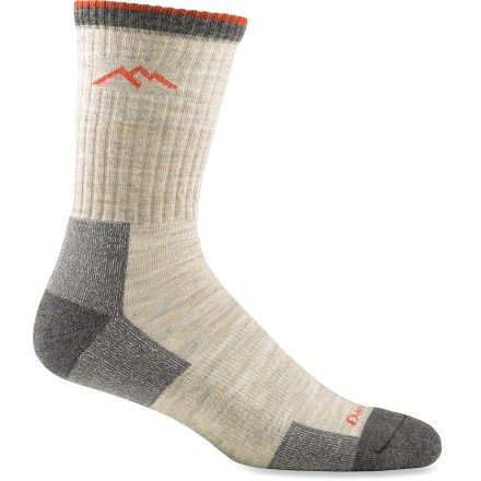 Camp and Hike Darn Tough Micro Crew Cushion Hiking socks provide miles of comfort and durability-trail-tested on the Vermont Long Trail, these socks provide a high level of cushioned performance. - $20.00