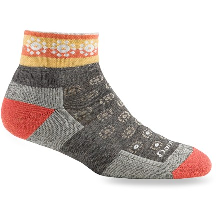 Camp and Hike Darn Tough Light Hiker Quarter women's socks provide miles of comfort and durability--trail-tested on the Vermont Long Trail, these socks provide a high level of cushioned performance. - $11.93