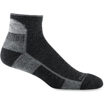 Camp and Hike Darn Tough Quarter Cushion men's socks provide miles of comfort and durability-these trail-tested socks provide a high level of cushioned performance. - $17.00