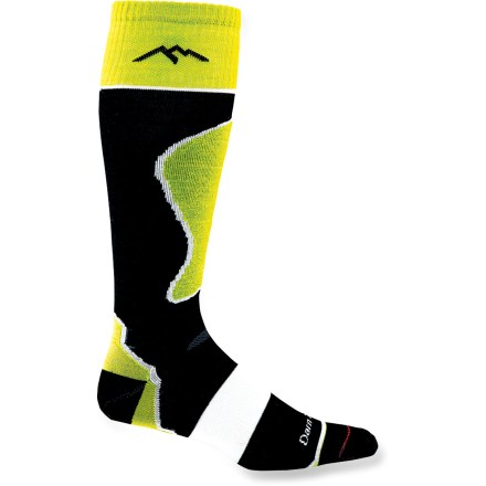 Ski The Darn Tough Padded Ultralight Ski/Ride men's socks are for those who prefer an ultralight non-padded sock with a lightweight swatch of padding that protects the shins. - $16.93