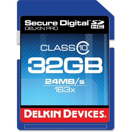 Camp and Hike The 32GB Delkin Devices Class 10 SD card is optimized for use in compatible action cams, smartphones, digital cameras, GPS and other handheld devices. - $16.83