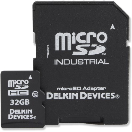 Camp and Hike The 32GB Delkin Devices UHS-1 Class 10 microSD card is the smallest removable storage available, optimized for compatible action cams, smartphones, digital cameras, GPS and other handheld devices. - $12.93