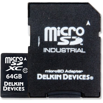 Camp and Hike The 64GB Delkin Devices UHS-1 Class 10 microSDXC card is the smallest removable storage available, optimized for compatible action cams, smartphones, digital cameras, GPS and other handheld devices. - $20.93