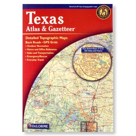 Camp and Hike An atlas and gazetteer with detailed topographic maps of the entire state of Texas - $24.95